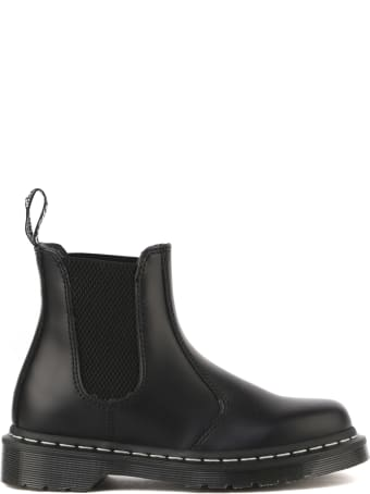 Dr. Martens Ankle Boots In Black Brushed Leather