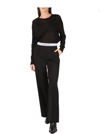 Calvin Klein Jeans Black Ck Mesh Knitwear