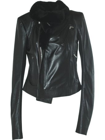 Rick Owens Leather Padded Jacket