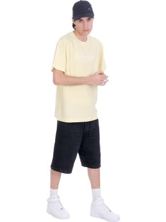 Alexander Wang T-shirt In Yellow Cotton