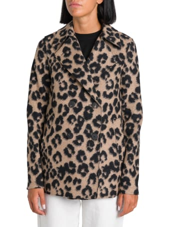 Harris Wharf London Animalier Pea-coat