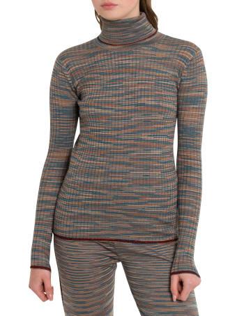 M Missoni Slub Fabric Turtleneck With Lurex Details