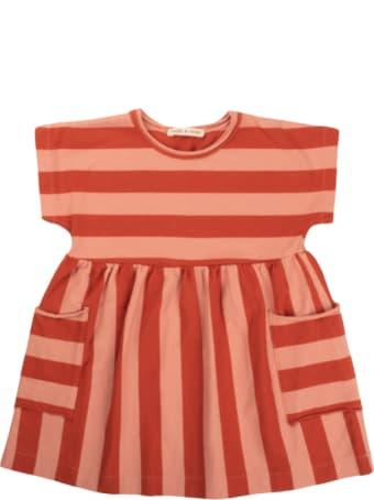 Babe & Tess Pink / Red Striped Dress