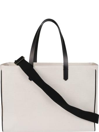 Golden Goose White Canvas California Tote Bag