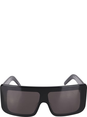Rick Owens Black Oversize Sunglasses