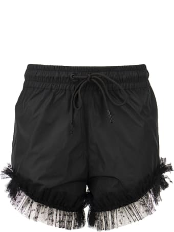 RED Valentino Taffeta And Point D'esprit Tulle Shorts