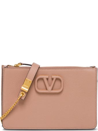 Valentino Garavani Vsling Pink Leather Bag