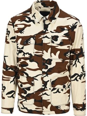 Prada Camouflage Print Zipped Jacke