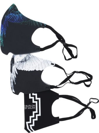 Marcelo Burlon Set Of 3 Printed Masks