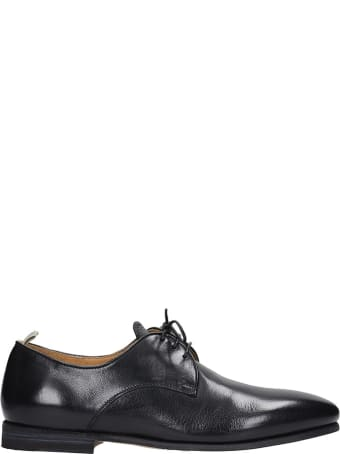 Officine Creative Revien 010 Lace Up Shoes In Black Leather