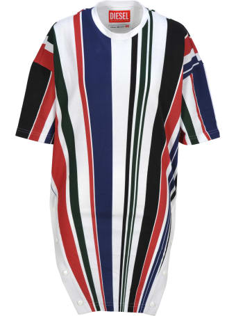 Diesel Glenn Martens Diesel Striped T-shirt
