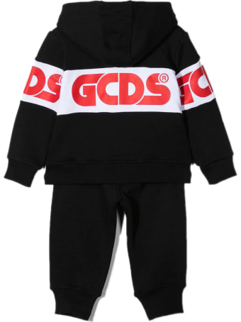 GCDS Black Cotton Logo Tracksuit