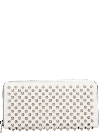 Christian Louboutin Panettone Wallet In White Leather