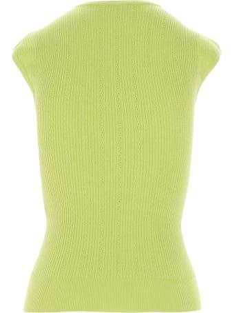 Balmain Green Sleeveless Topwear