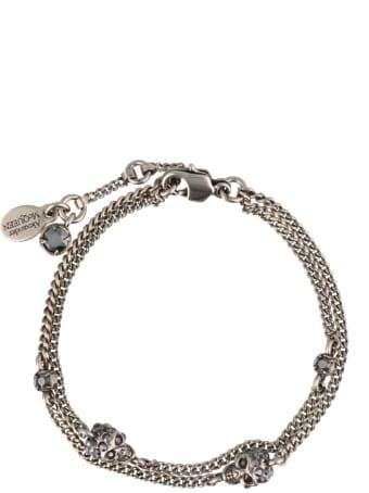 Alexander McQueen Multi Chain Skull Bracelet