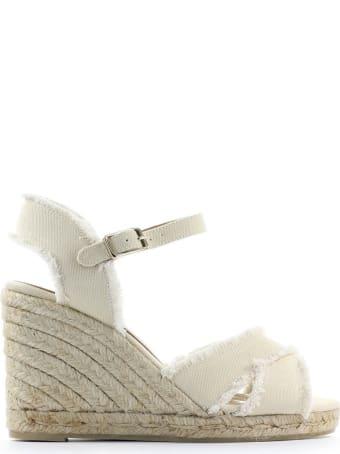 Castañer Bromelia White Wedge Espadrilles