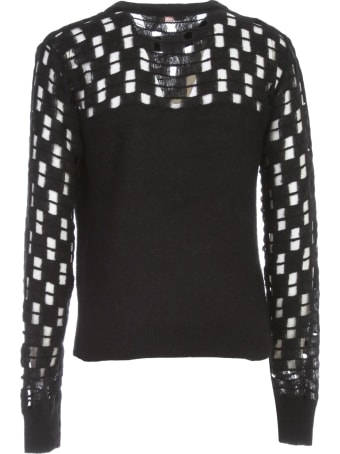 See by Chloé Sweater L/s Crew Neck W/holes On Sleeve