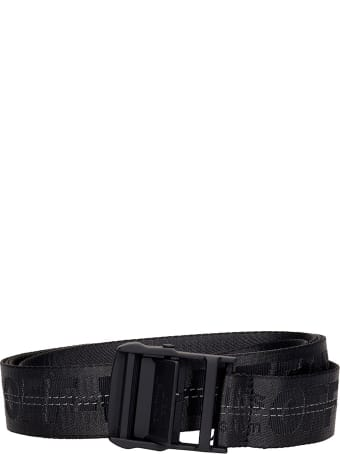 Off-White Classic Industr Belts In Black Synthetic Fibers