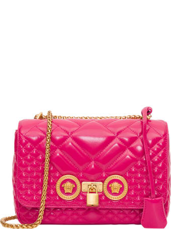 Versace Icon Shoulder Bag In Patent Leather