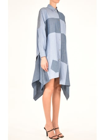 Loewe Oversize Patchwork Cotton Dress