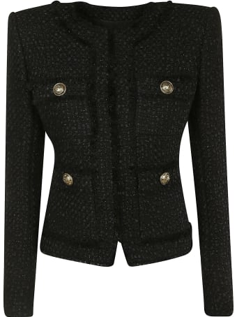 Balmain Crop Button-embellished Jacket