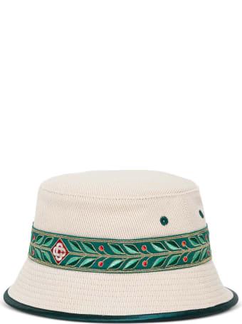 Casablanca Wool And Cotton Laurel Buket Hat