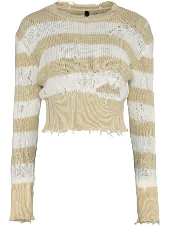 Ben Taverniti Unravel Project Striped Distressed Sweater