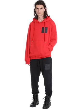 Maison Margiela Sweatshirt In Red Cotton