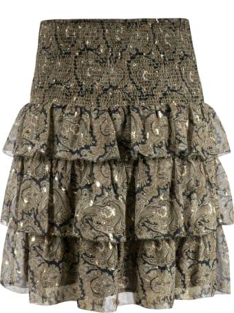 Les Coyotes De Paris Paisley Print Ruffle Detail Skirt