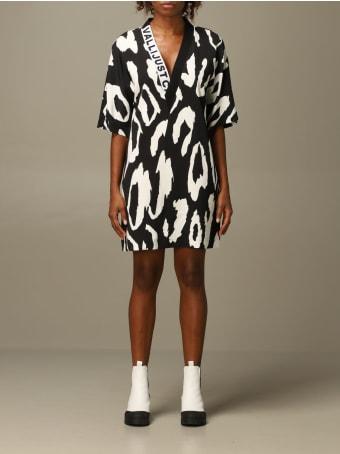 Just Cavalli Dress Just Cavalli V-shaped Dress With Animal Print