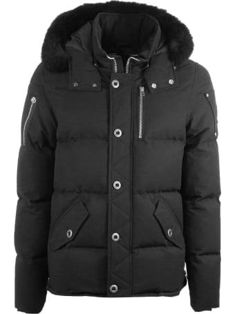 Moose Knuckles Black Hooded Padded Coat