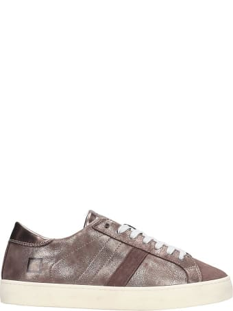 D.A.T.E. Hill Low Sneakers In Bronze Leather