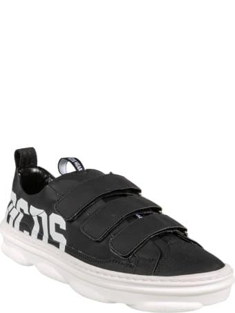 GCDS Triple Velcro Strap Logo Print Sneakers