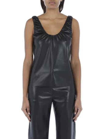Nanushka Yael Vegan Leather Tank Top