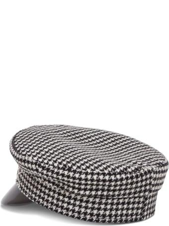 Ruslan Baginskiy Pied De Poule Wool Baker Hat