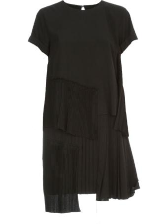 N.21 Pleated Dress Mini S/s W/flounce