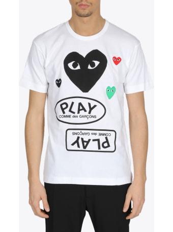Comme des Garçons Shirt Boy Multi Logo Tee