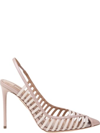 Aquazzura Cosima Pump Decollete Aquazzura 105 In Leather Color Nude / Cream
