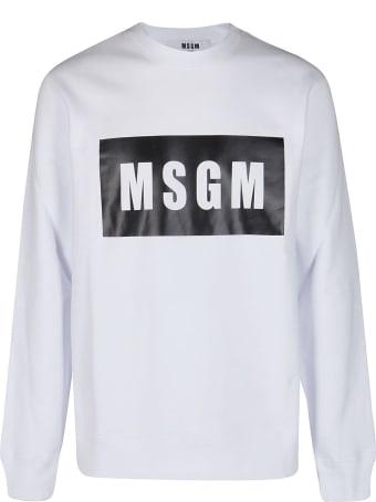 MSGM White Cotton Sweatshirt