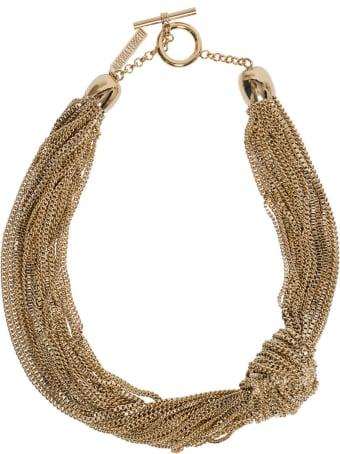 Alberta Ferretti Golden Metal Necklace