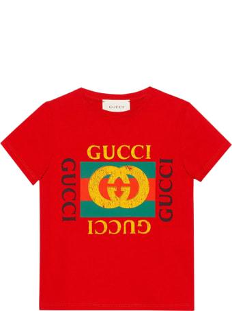 Gucci Kids Gucci Vintage Logo T-shirt