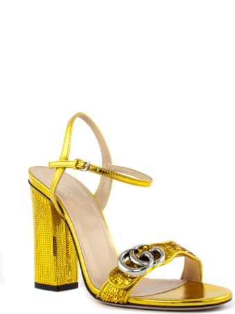 Gucci Gold Sequin Sandals