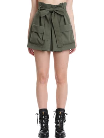 RED Valentino Shorts In Green Cotton