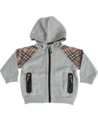 Burberry Mini-hamilton Checked Zipped Hoodie