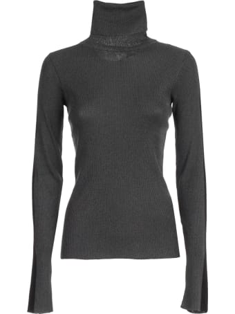 SSHEENA Sweater Turtle Neck Lurex W/side Bands