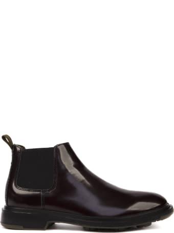 Pezzol 1951 Auburgine Color Calf Leather Boots