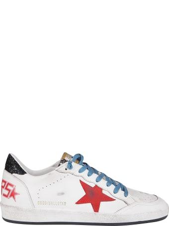 Golden Goose White Leather Ballstar Sneakers