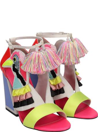 Kat Maconie Aya  Sandals In Multicolor Tech/synthetic