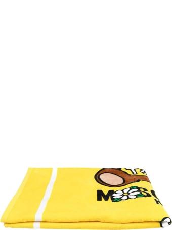 Moschino Yellow Beach Towel With Print