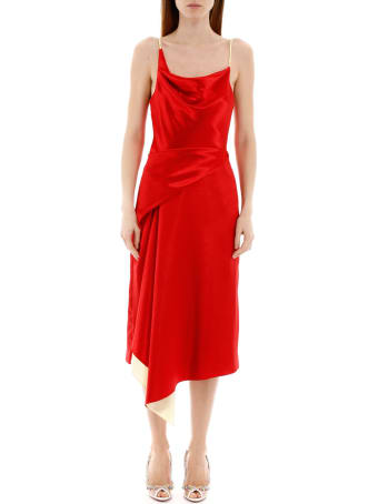 Sies Marjan Farrah Two-tone Satin Dress